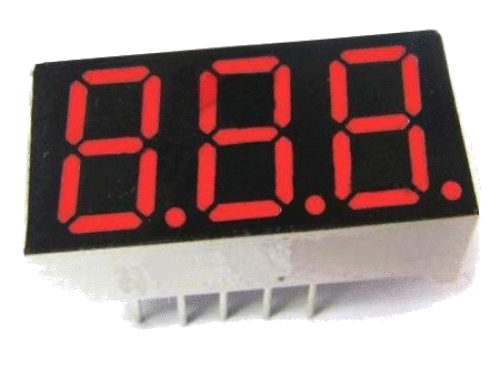 7-segment LED (3 digits)