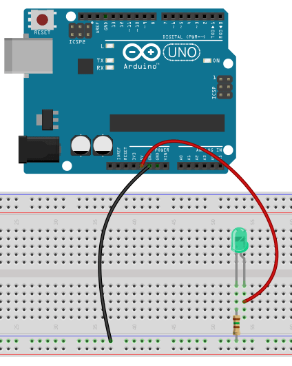 led connection with resistor