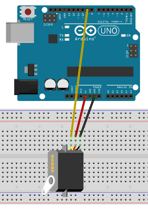 Servo motor connections